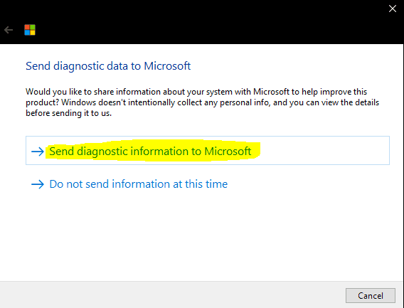 Windows 10 MDM Log - Intune One Data Collector - Send diagnistic infromation to Microsoft
