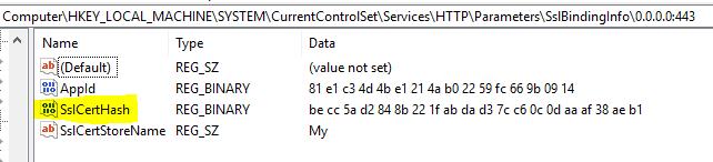 Intune SCEP HTTP Error 503 - IIS SSL Binding Cert thumbprint must match with the NDES Policy Module Cert thumbprint