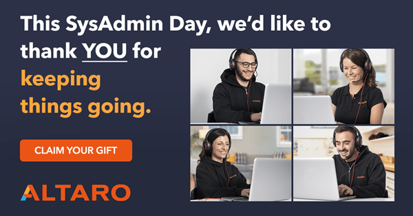 SysAdmin Day 2020 is Over But You Can Still Win | IT Pros | Altaro