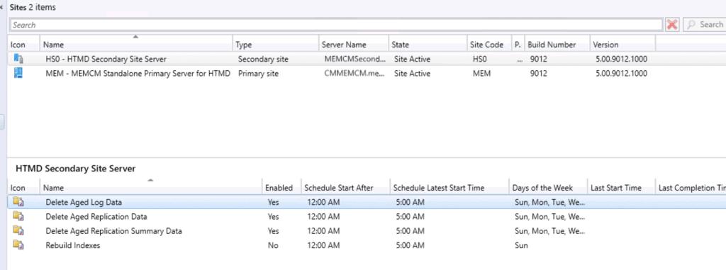 SCCM Secondary Site Maintenance Tasks - ConfigMgr