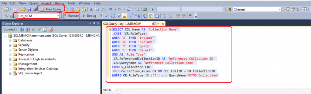 SCCM Report Include Membership collection Rule | ConfigMgr Query