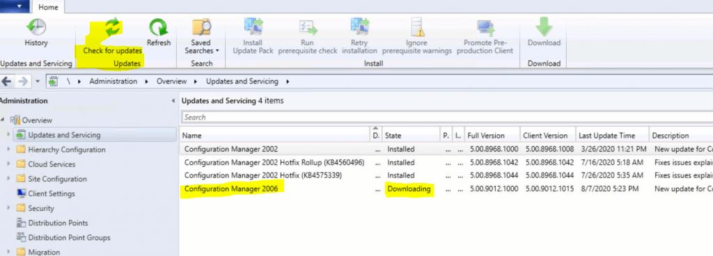 SCCM Primary Server Upgrade to 2006