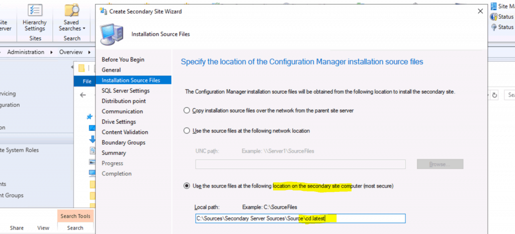 SCCM Secondary Server Installation Guide | Step by Step | ConfigMgr