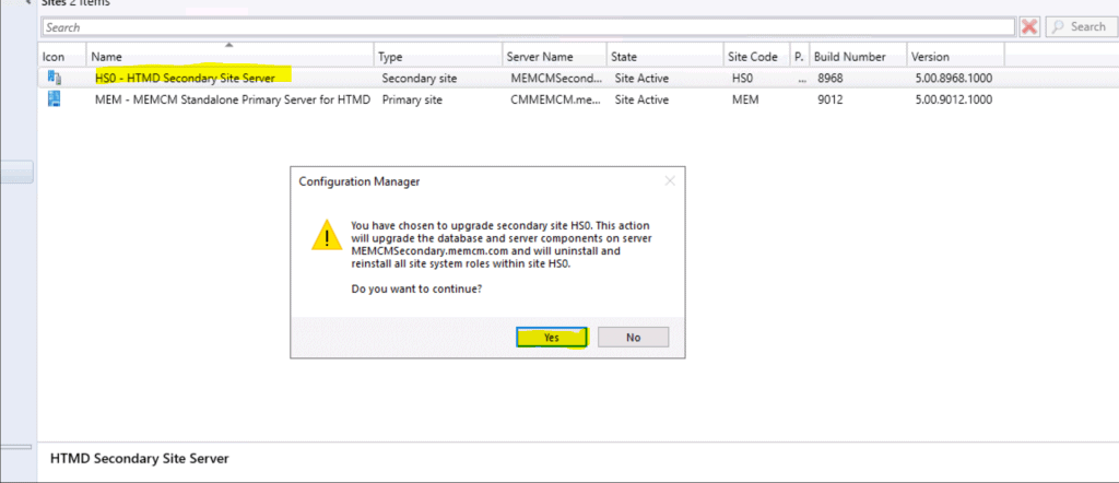 SCCM Secondary Site Server Upgrade to 2006 Version | ConfigMgr