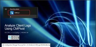 Analyze SCCM Client Logs Using CMPivot ConfigMgr