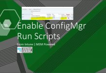 Enable SCCM Run scripts Feature