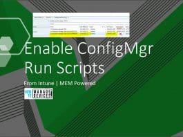 Enable SCCM Run scripts Feature