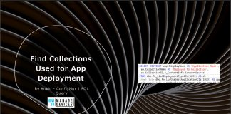 Find Collections Used for App Deployment