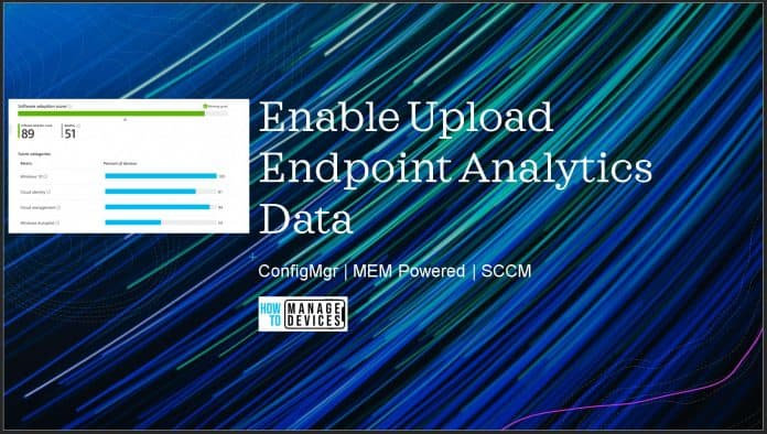 SCCM Enable Upload Endpoint Analytics Data