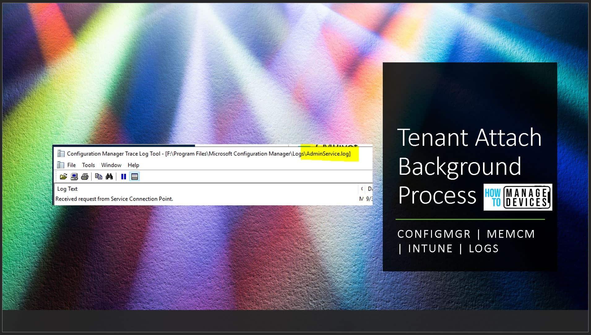 SCCM Tenant Attach Background Process