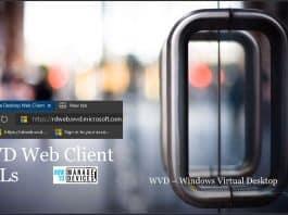 WVD Web Client URL for V1 V2