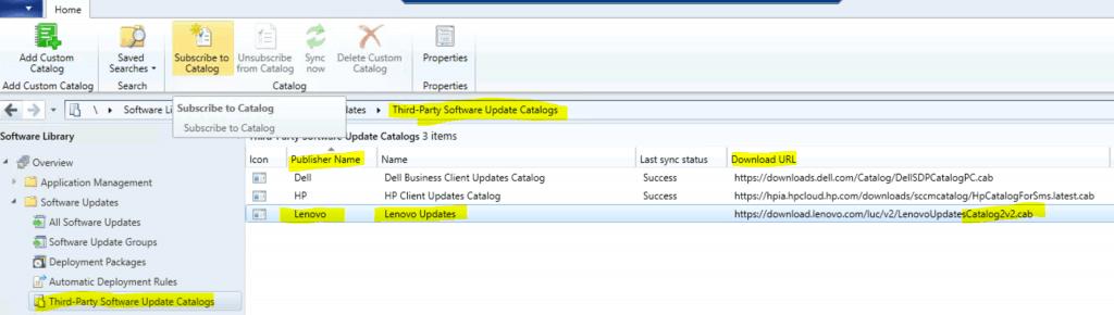 Lenovo Updates Catalog V3 for SCCM | Third-Party Updates ConfigMgr