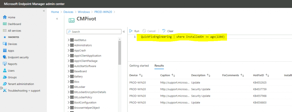 Run CMPivot Queries from Intune Portal | SCCM | ConfigMgr