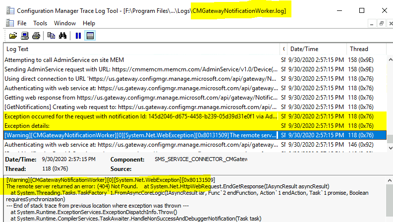SCCM Logs Files - ConfigMgr