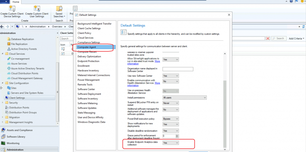 ConfigMgr How to Enable Upload Endpoint Analytics Data | SCCM