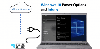 Windows 10 Power Options and Intune