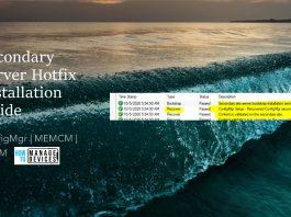 Install Secondary Server Hotfix