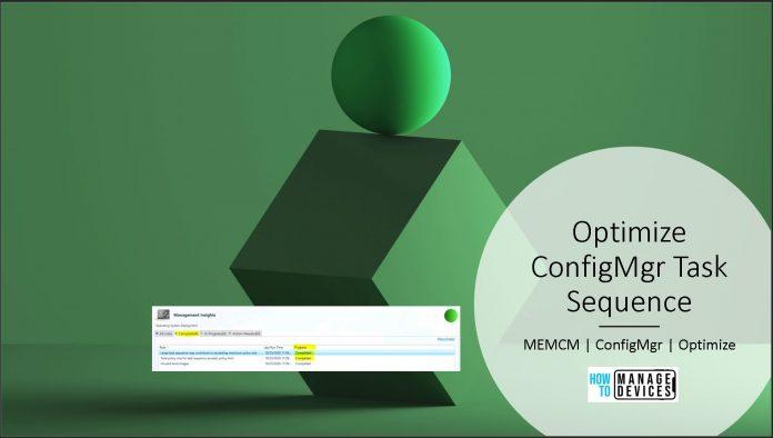 Optimize ConfigMgr Task Sequence