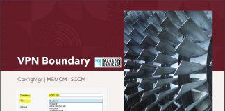 ConfigMgr VPN Boundary
