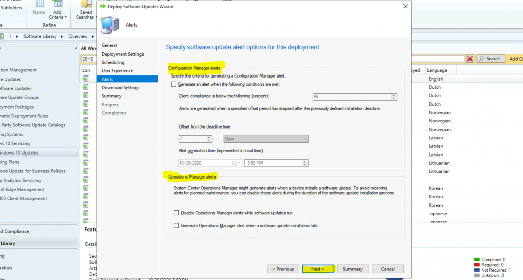 ConfigMgr Windows 10 Servicing Upgrade to 20H2 | SCCM 6