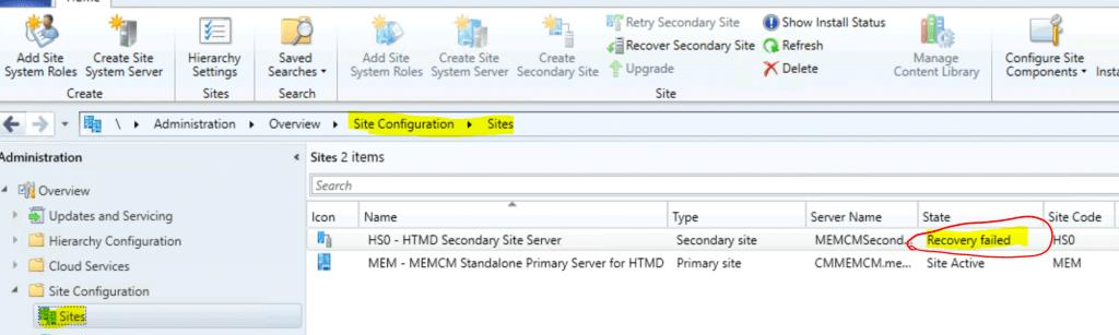 SCCM Secondary Server Recovery Failed Issue | Fix | ConfigMgr Recover Secondary Site