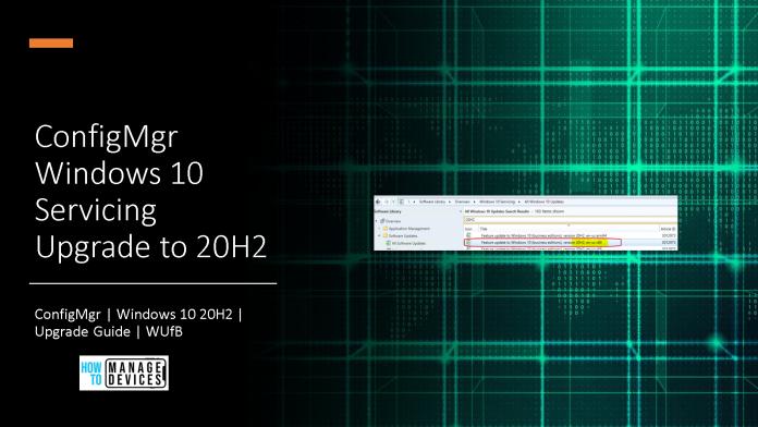 Windows 10 Servicing Upgrade to 20H2