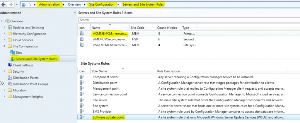 ConfigMgr Intranet Clients can Use CMG Software Update Point SCCM