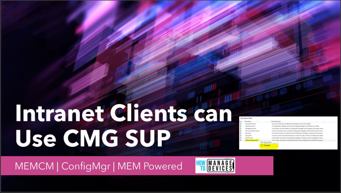 ConfigMgr Intranet Clients can Use CMG Software Update Point