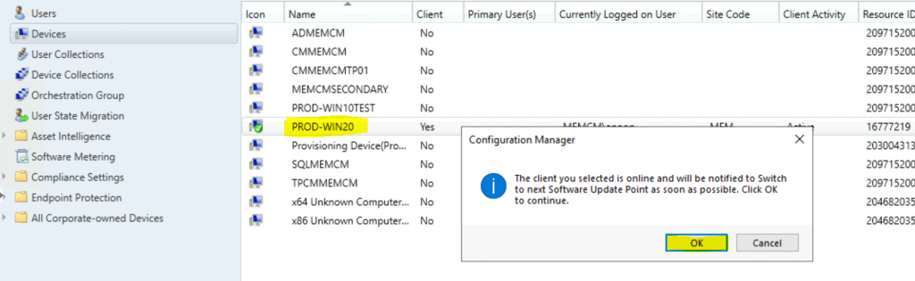 Change SCCM Client Software Update Point SUP | ConfigMgr