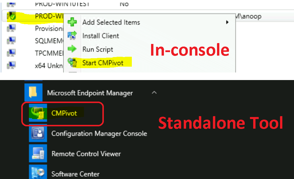 ConfigMgr CMPivot Improvements | SCCM 2006 Additional Features