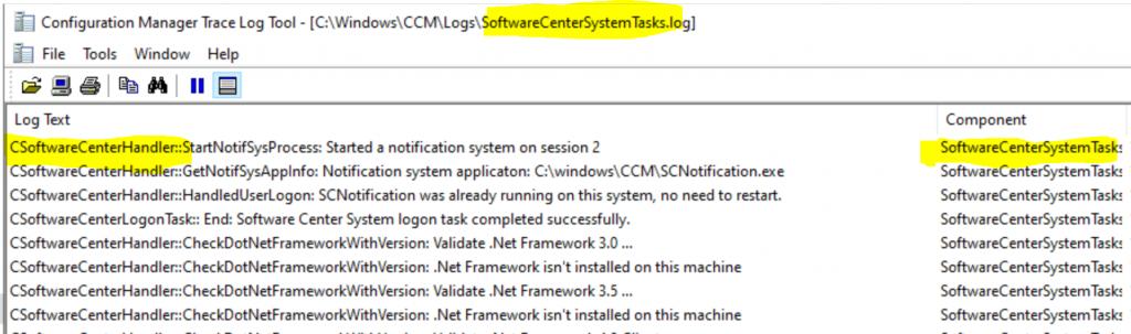 ConfigMgr Client Logs Details | SCCM 2
