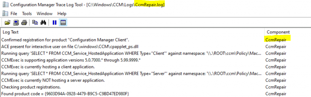 ConfigMgr Client Logs Details | SCCM 4