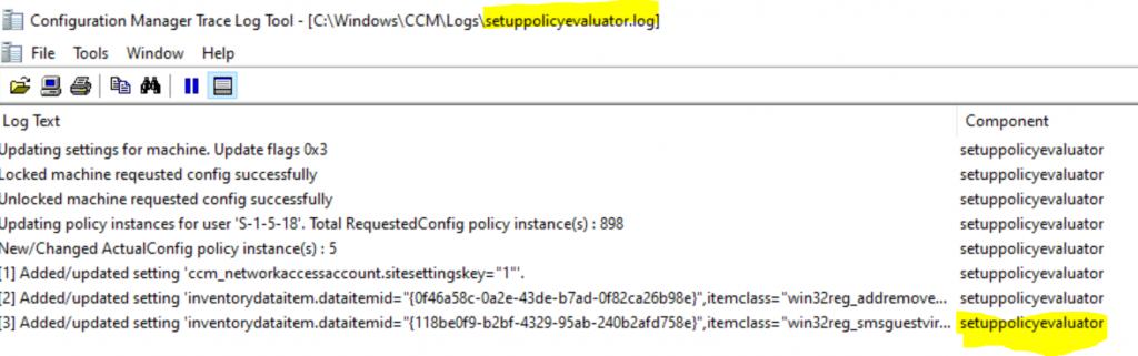 ConfigMgr Client Logs Details | SCCM 5