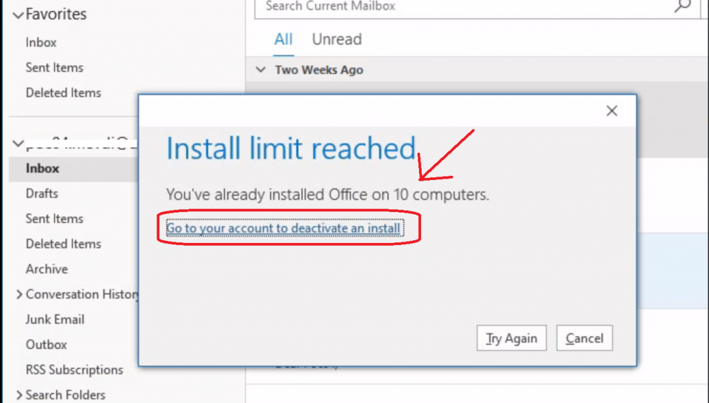 Deactivate Office Install Fix Install Limit Reached Already Error