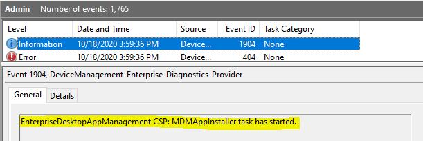 Windows 10 Intune App Deployment Support Help #2 - Tracking MSI app deployment using Windows Events