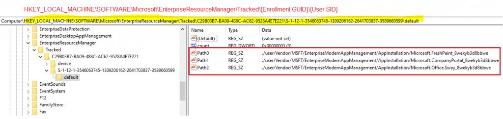 Windows 10 Intune App Deployment Support Help #2 - Tracking Store App deployment using Windows Registry