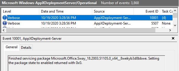 Windows 10 Intune App Deployment Support Help #2 - Tracking Store App deployment using Windows Events