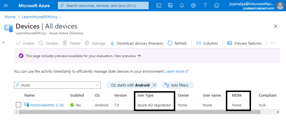 Azure AD Shared device mode provisioned device can be found in Azure AD devices with Join Type as Azure AD Regsitered.
