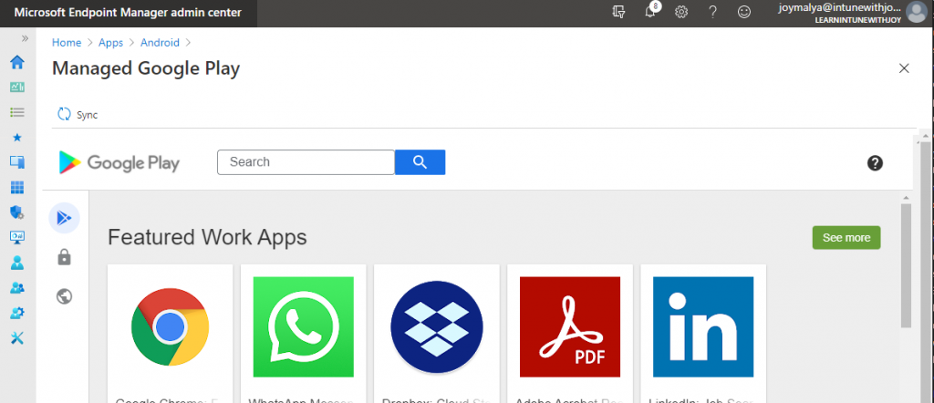 Deploy Apps from the Managed Google Play which support Azure AD Shared Device mode