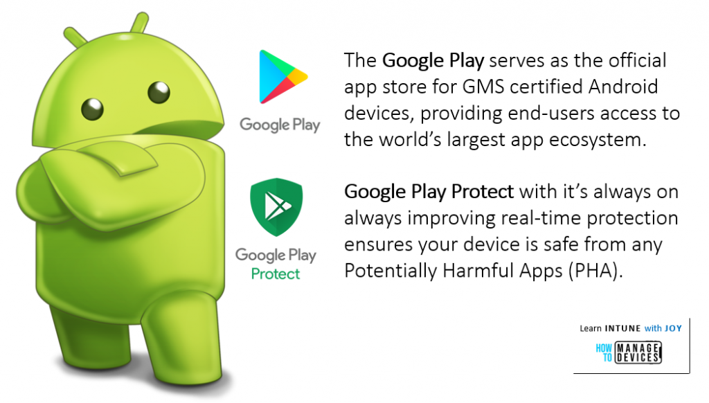 9 myths regarding the use of Android in Enterprise - Google Play gives end-users access to the world's largest app ecosystem. It's not only quantity over quality. Google Play Protect, the world's most widely deployed mobile threat protection system, scans billions of app in the Play Store every day which ensures that 99.99% of apps are safe.
