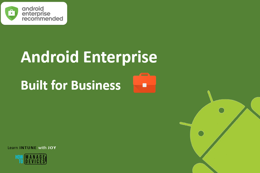 9 myths regarding the use of Android in Enterprise - Android Enterprise makes Android a serious option for businesses. Android Enterprise as it sounds is built for Enterprise use.