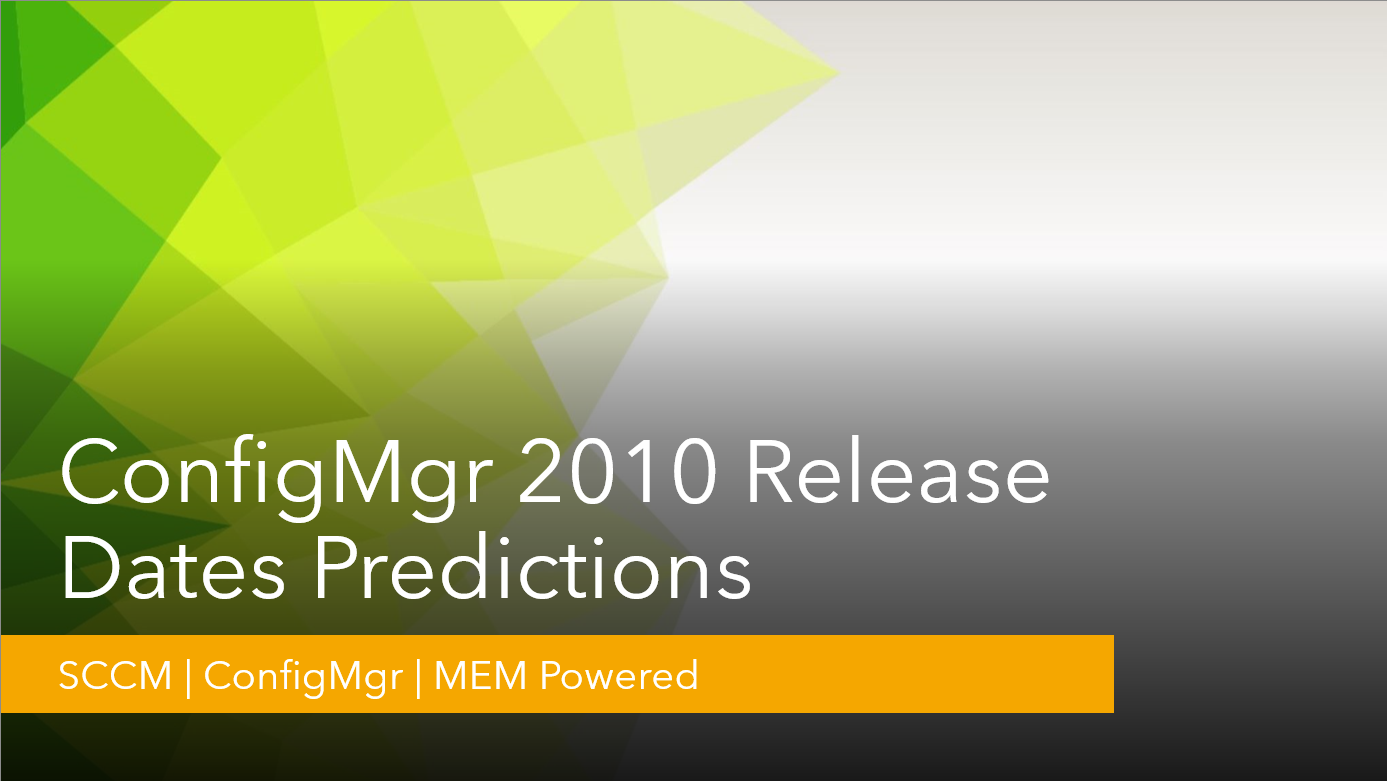 ConfigMgr 2010 Release Date Predictions | SCCM 1