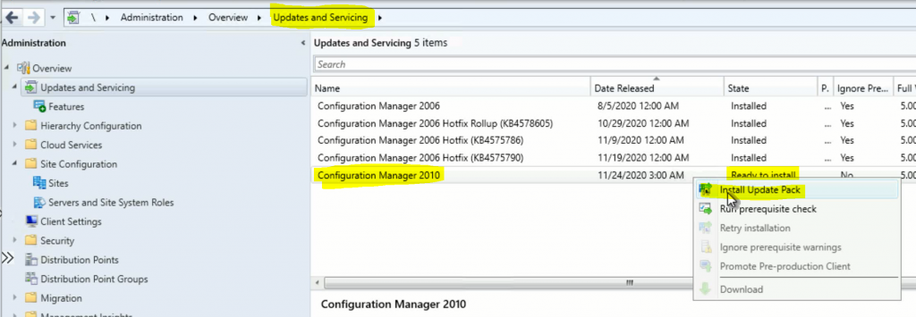 SCCM Server Upgrade to 2010 | ConfigMgr | Guide | Step by Step 2