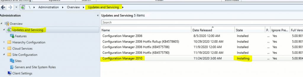 SCCM Server Upgrade to 2010 | ConfigMgr | Guide | Step by Step 5
