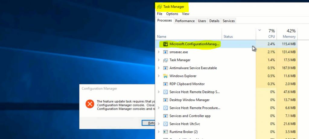 Fix ConfigMgr Console Feature Update Task Retry Operation Error | SCCM 1