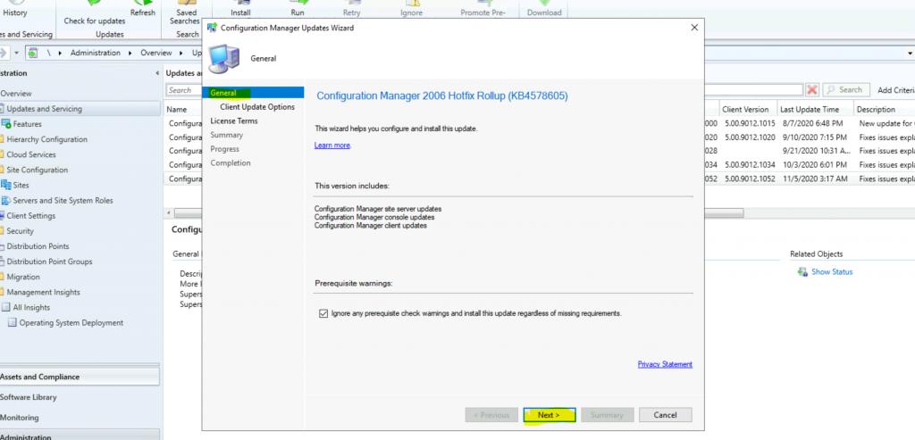 ConfigMgr 2006 Hotfix KB4578605  SCCM | Update Rollup | 22 Fixes