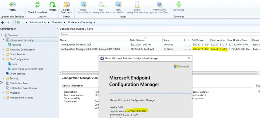 ConfigMgr 2006 Hotfix KB4578605  SCCM | Update Rollup | 22 Fixes 1