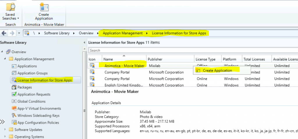 Add Microsoft Store Application to ConfigMgr | SCCM | MSfB