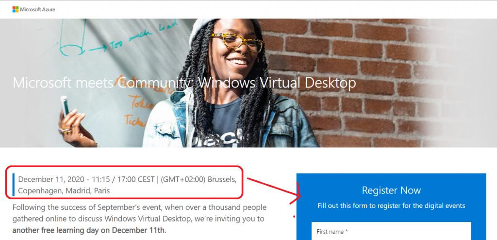 Microsoft WVD Community Event XXL Edition Speaker | Register