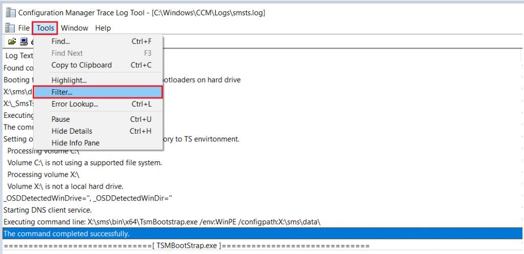SCCM OSD SMSTS Log File Reading Tips | ConfigMgr | MEMCM